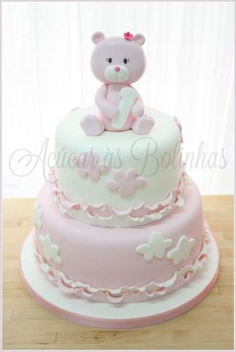 Bolo batizado nuvens - Ac?car as Bolinhas - Cake Design ...