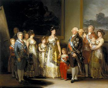 La familia de Carlos IV. De  GOYA. in wikipedia.jp