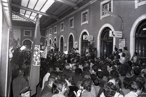 Regresso de Mário Soares a Portigal, 1974,  arquivo da Global Imagens