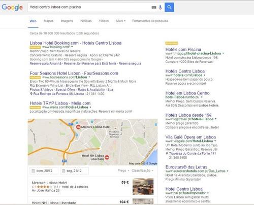 Hotel Centro de Lisboa com piscina - google.pt