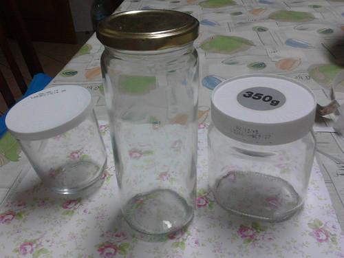 Reciclagem de frascos de vidro