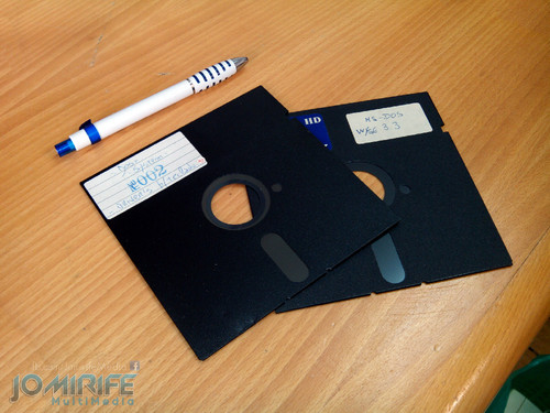 Disquetes 5,25 inch com MS-DOS. 5.25 inch floppy disks with MS-DOS