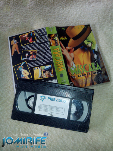 Filme A Máscara do Jim Carrey em Cassete VHS [en] Jim Carrey movie The Mask in VHS cassette