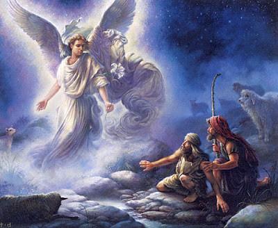 os anjos e os pastores