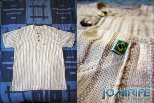 Camisola de manga curta feita com algodão do Brasil [en] Short sleeve sweater made with cotton from Brazil
