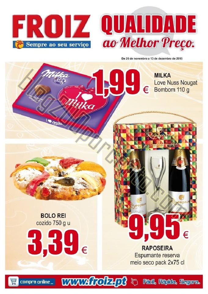 Novo Folheto FROIZ promoções até 13 dezembro p1