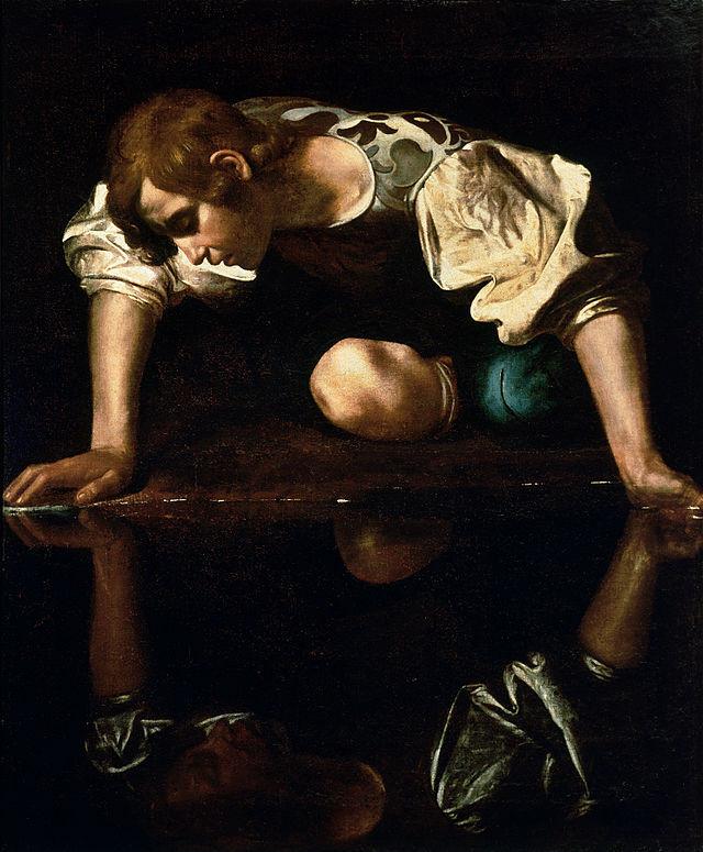 Narcissus Caravaggio 1590s.jpg