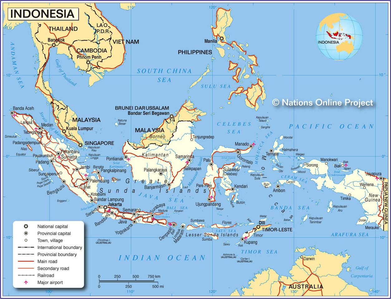 Mapa Indonésia