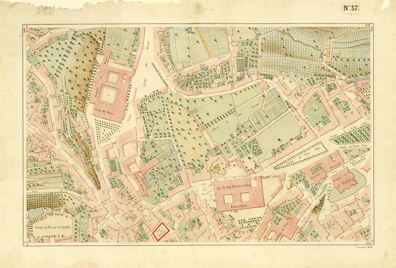 Atlas da carta topográfica de Lisboa, nº 37 de F