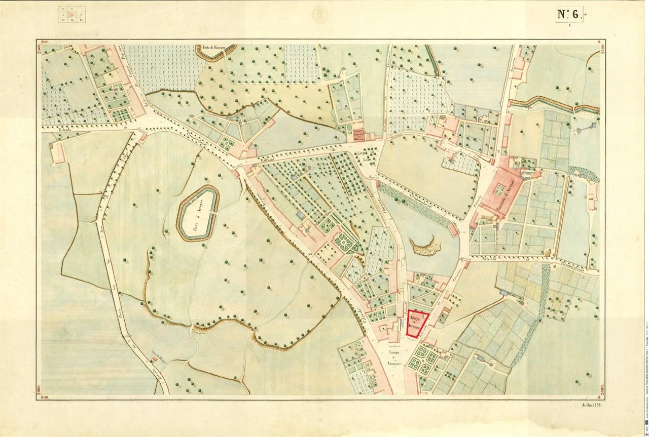 Atlas da carta topográfica de Lisboa, n.º 6, 185