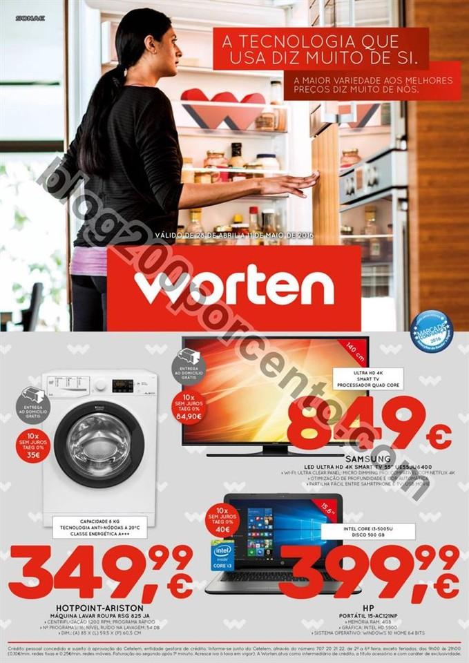 Novo Folheto WORTEN Promoções de 28 abril a 11 m