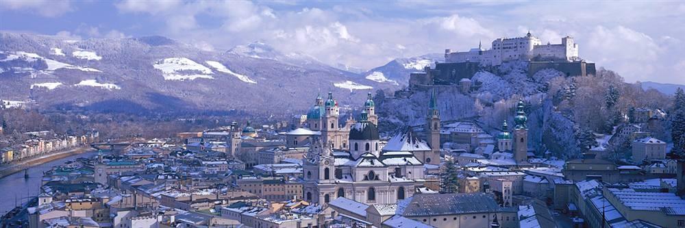 Inverno em Salzburgo