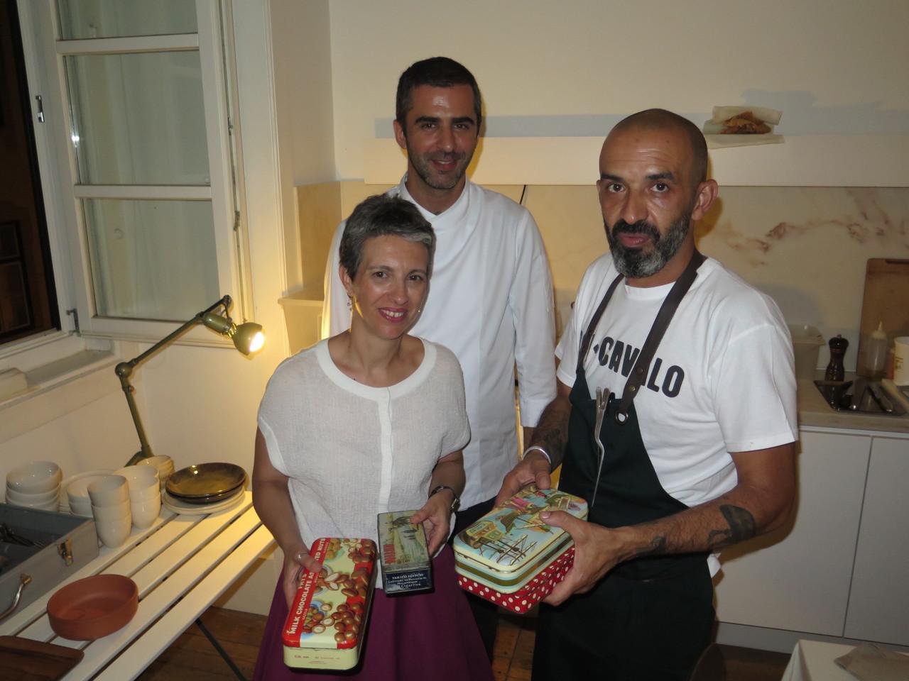 Ana Cachaço e Tiago Feio (LEOPOLD) com o convidado especial deste jantar Hugo Brito (BOI-CAVALO)