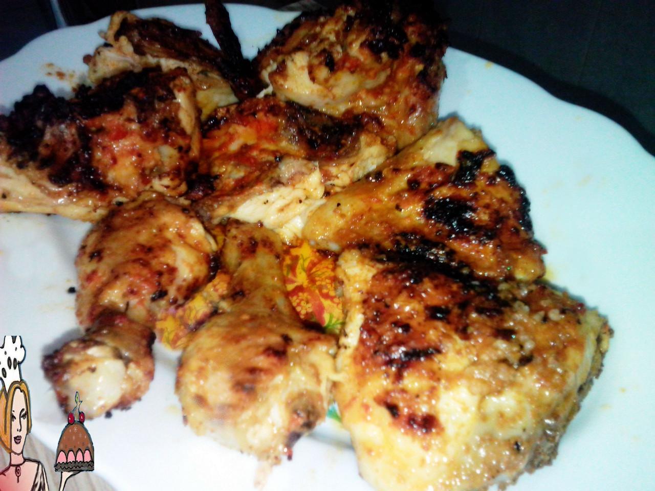 Churrasco de frango caseiro