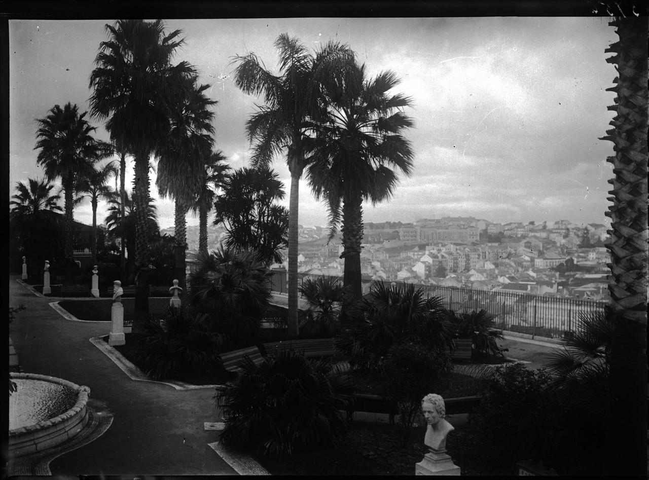 Jardim de São Pedro de Alcântara, 1898, foto de