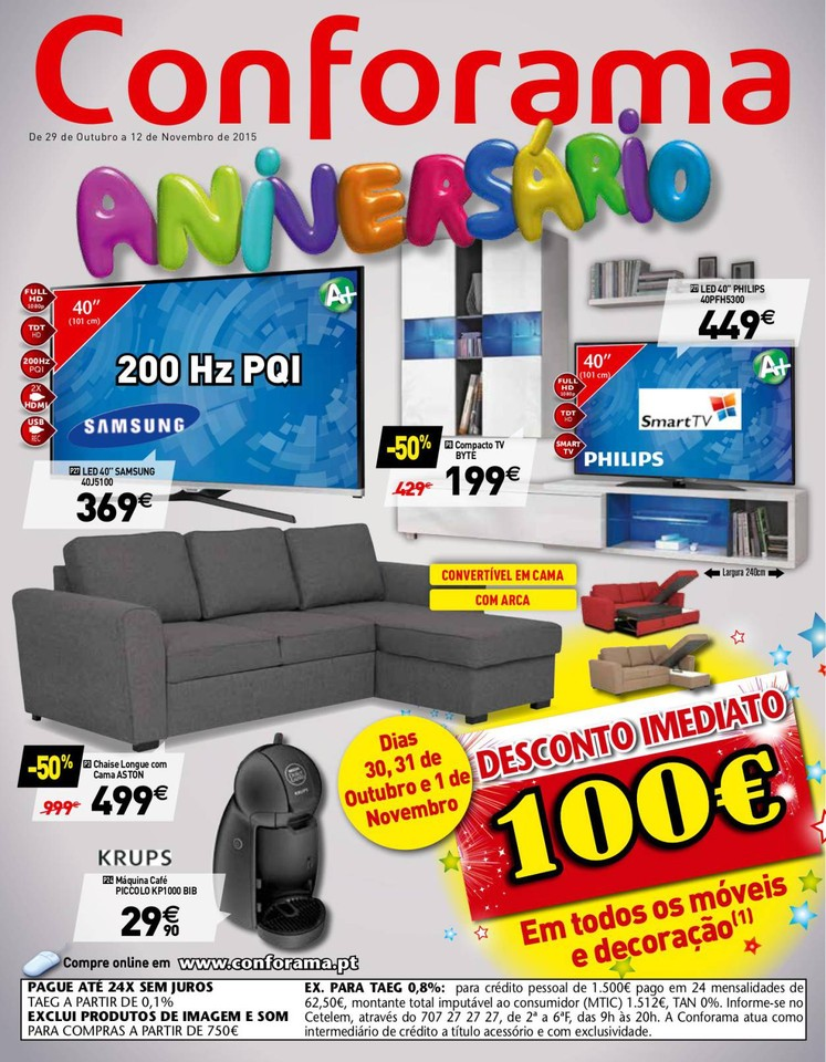 Promo es conforama antevis o folheto cat logo 29 - Nuevo catalogo de conforama ...