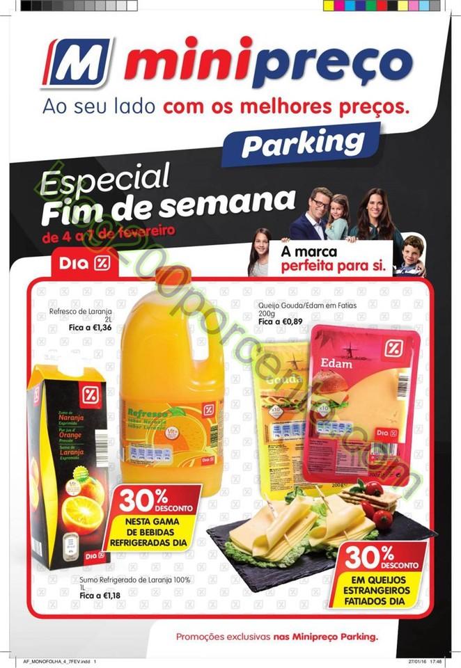 Antevisão Folheto MINIPREÇO Parking fim de seman
