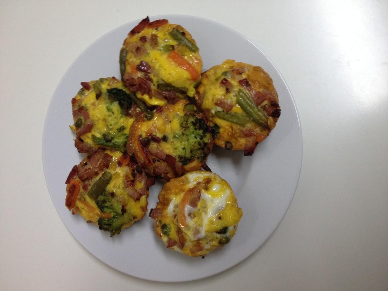 Receitas da hortelã | queques de legumes