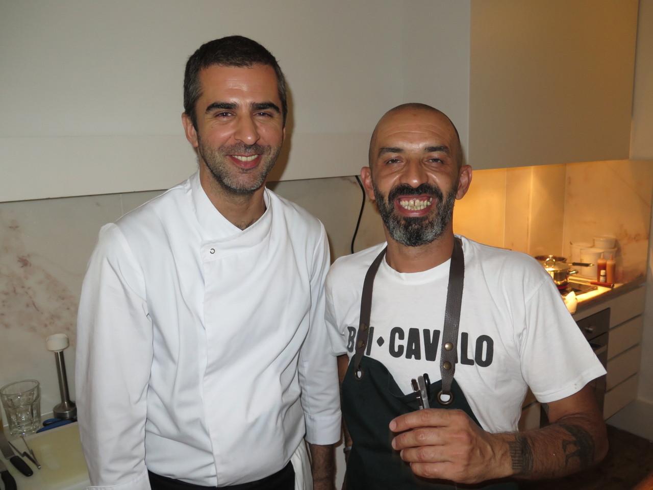 Tiago Feio (LEOPOLD) e Hugo Brito (BOI-CAVALO)