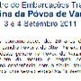 encontro póvoa varzim 2011 cartaz barcos tradicio