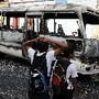 Autocarro incendiado gangue Comayagua, Honduras