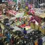 Os acessórios natal vendidos no centro comercial