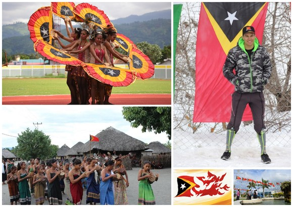 Fotos com a bandeira de Timor.jpg