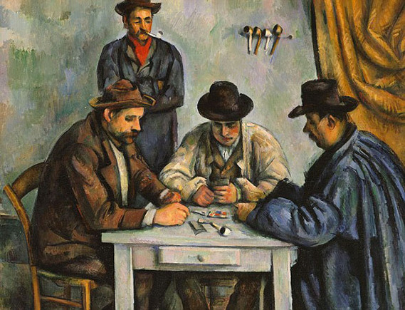 Paul Cézanne - the second version of The Card Pla