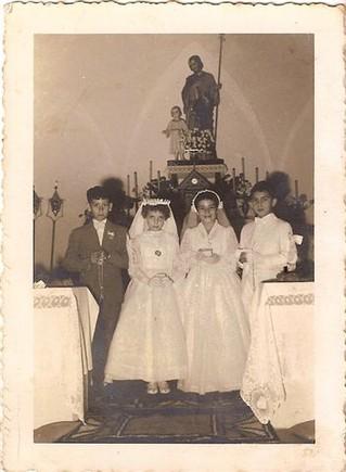 Primeira comunhão  Antônio Guerra , Mª Mauela B