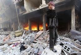 Ataques aéreos leais Pr. Sírio. B. Douma, Damasc