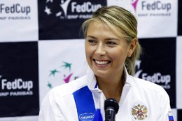 Dias felizes para Maria Sharapova