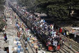 Comboio no Bangladesh