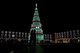 Árvore de Natal na Praça Comércio, Lisboa