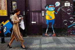 Na rua com o smartphone, Londres, RU