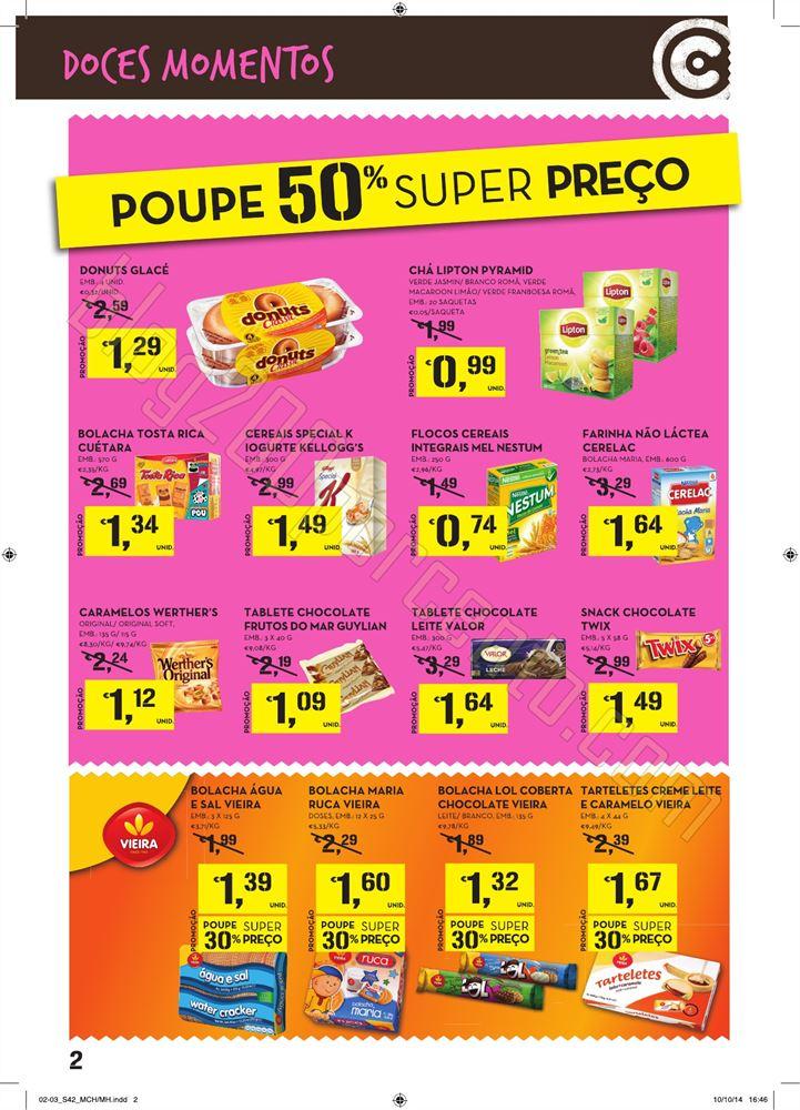 Novo folheto CONTINENTE de 16 a 22 outubro - doces