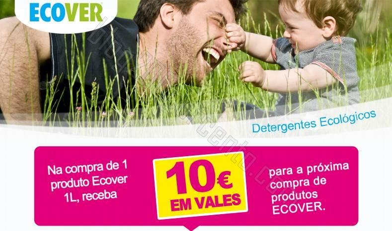 Receba 10€ em vales de desconto ECOVER até 15 janeiro 2015