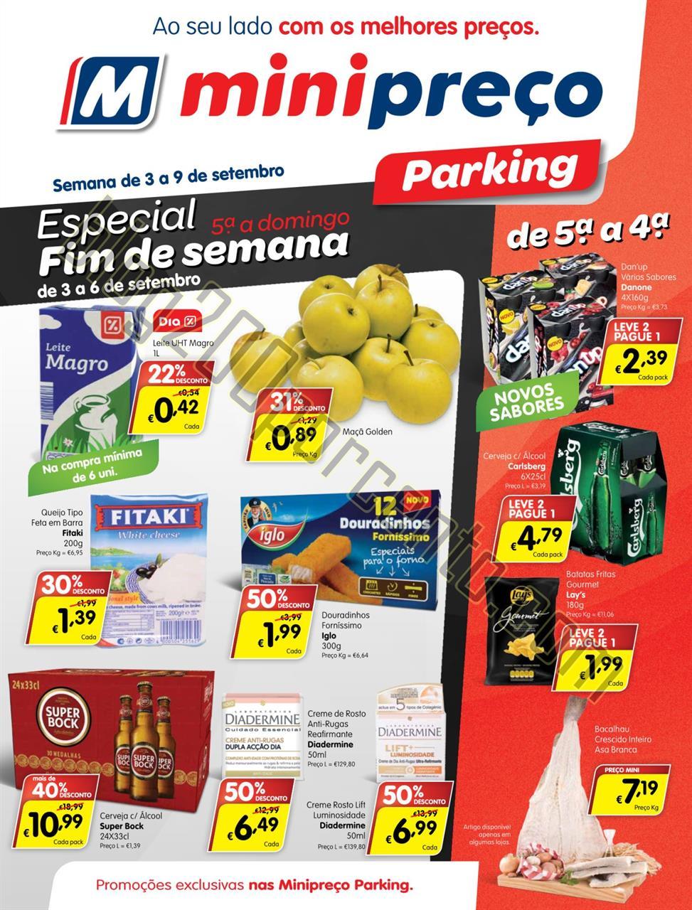 Antevisão Folheto MINIPREÇO Parking de 3 a 9 set