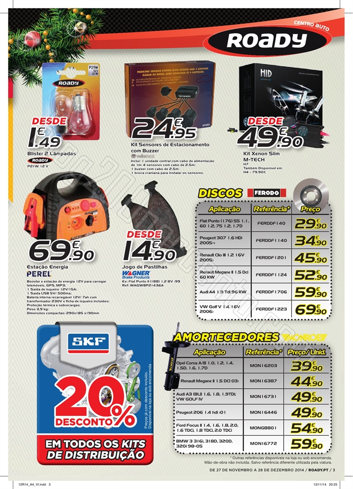 Novo Folheto ROADY Natal de 27 novembro a 28 dezem