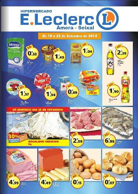 Folheto E-LECLERC Amora - Seixal até 22 setembro