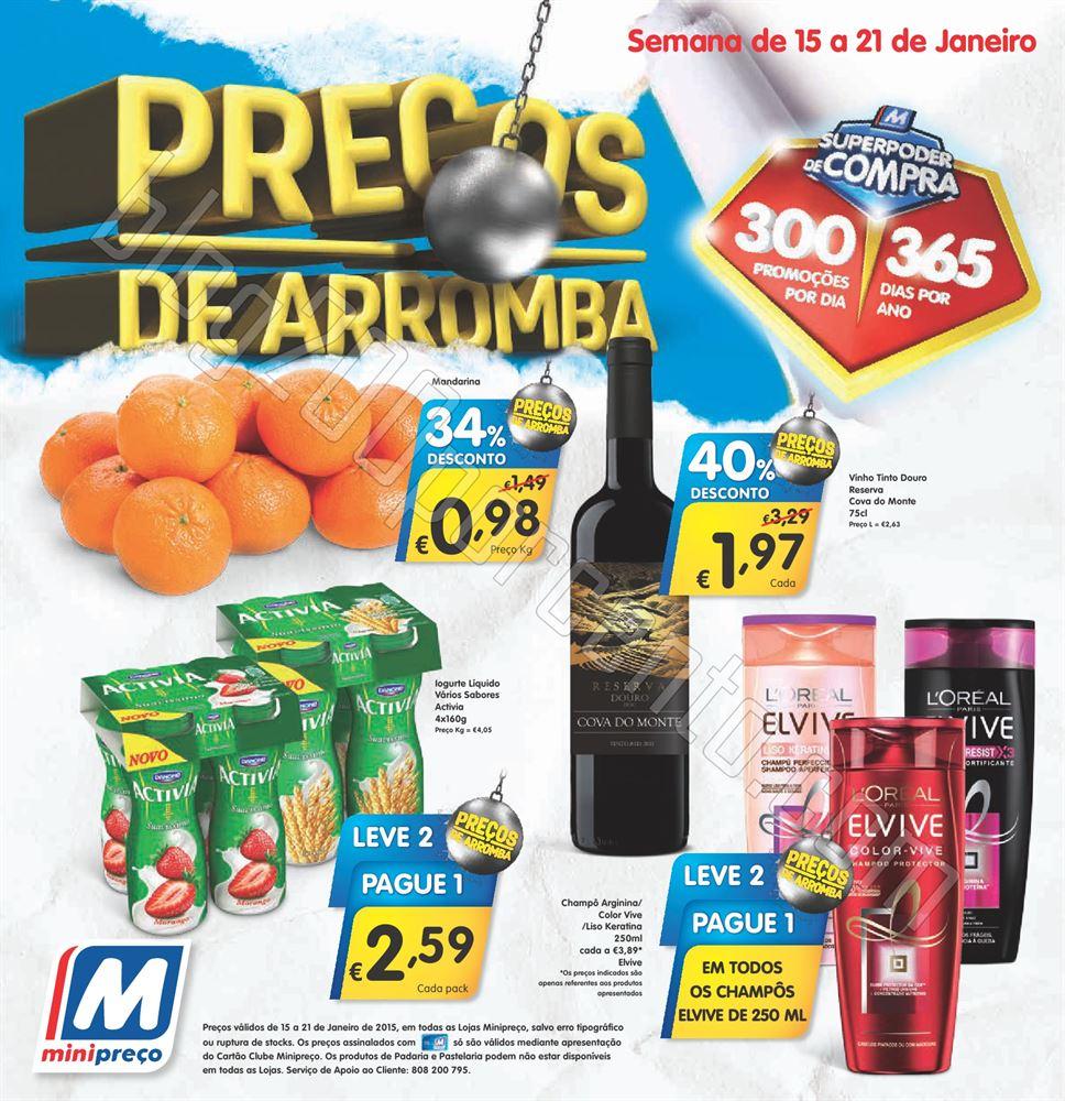 Antevisão Folheto MINIPREÇO Promoções de 15 a