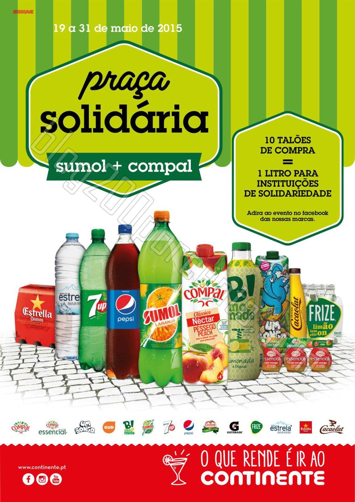 Antevisão Folheto CONTINENTE Praça Solidária de