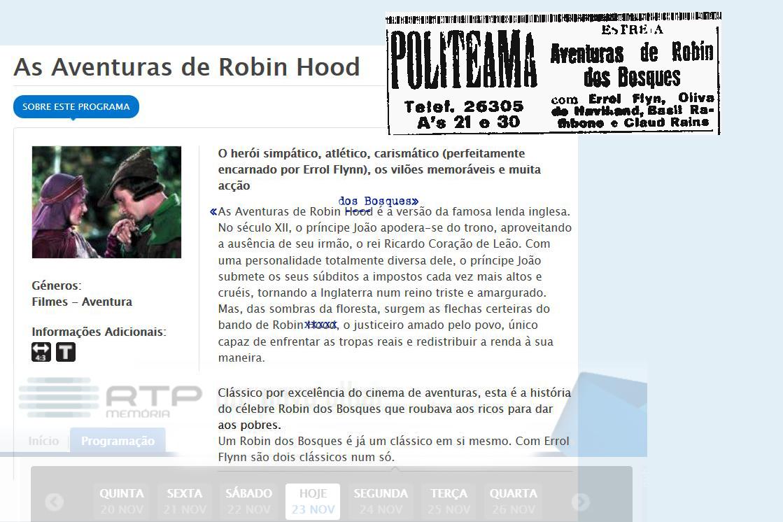 As Aventuras de Robin dos Bosques (M. Curtiz, 1939)