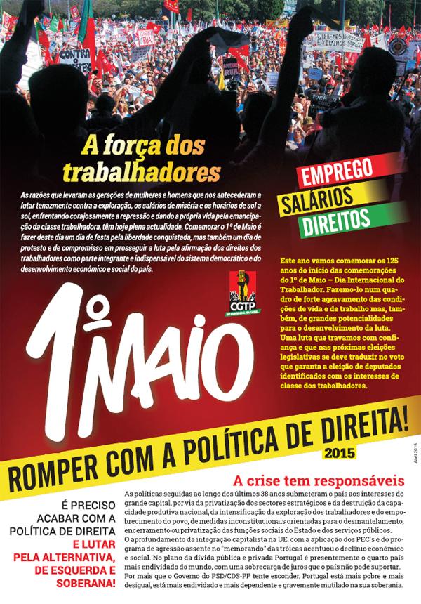1 maio 2015 manifesto
