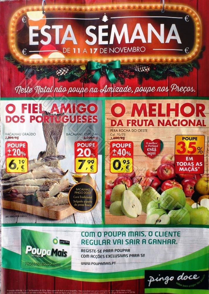 Antevisão Folheto PINGO DOCE de 11 a 17 novembro