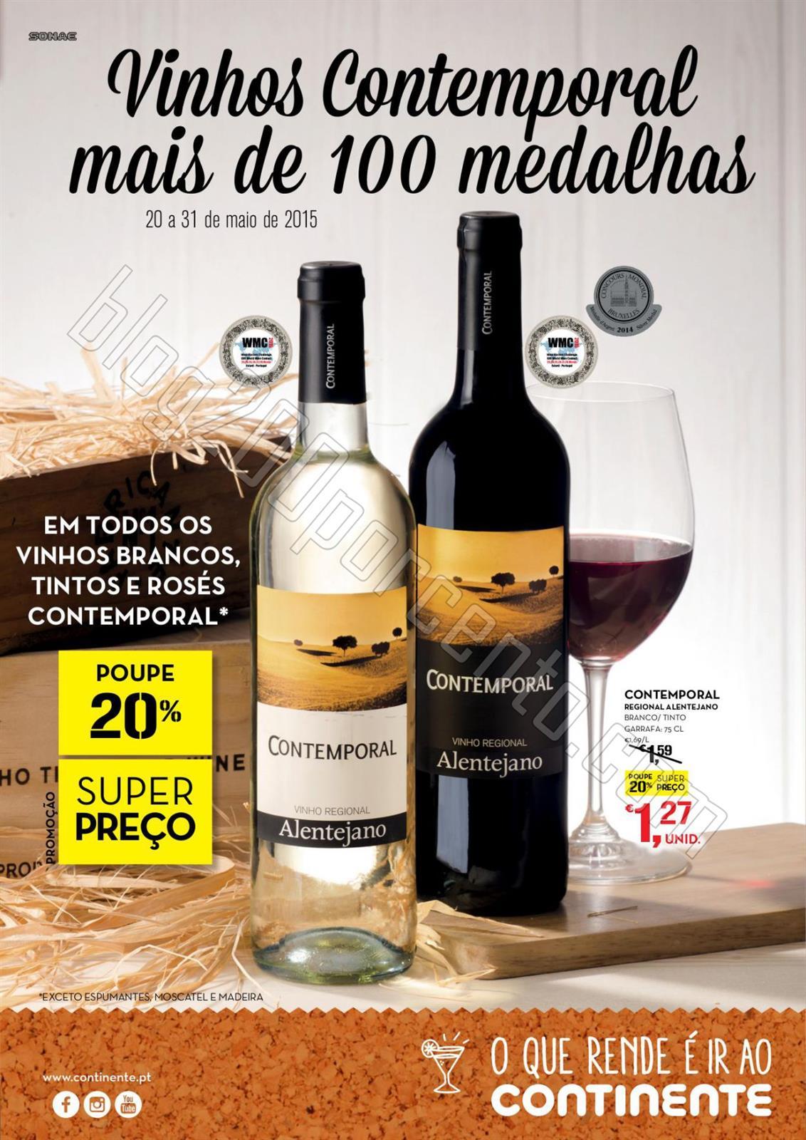 Antevisão Folheto CONTINENTE Vinhos de 20 a 31 ma