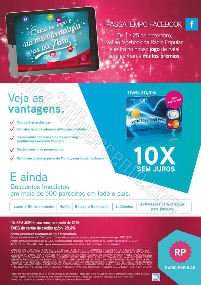 Antevisão Folheto RADIO POPULAR Especial Natal de