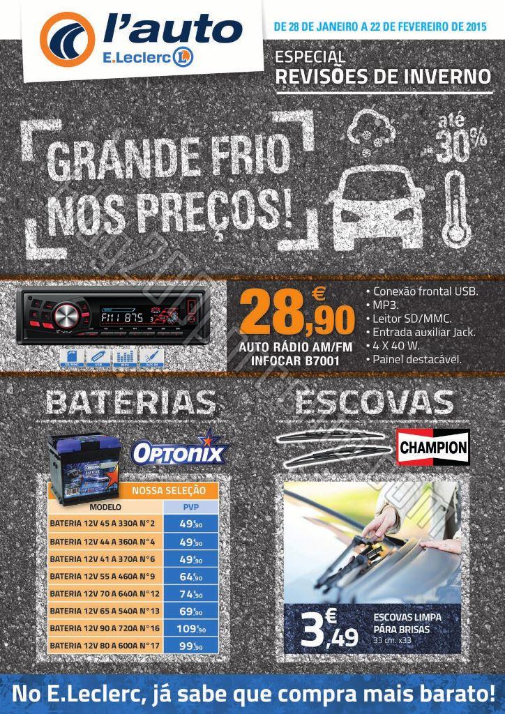 Novo Folheto E-LECLERC Auto de 28 janeiro a 22 fev