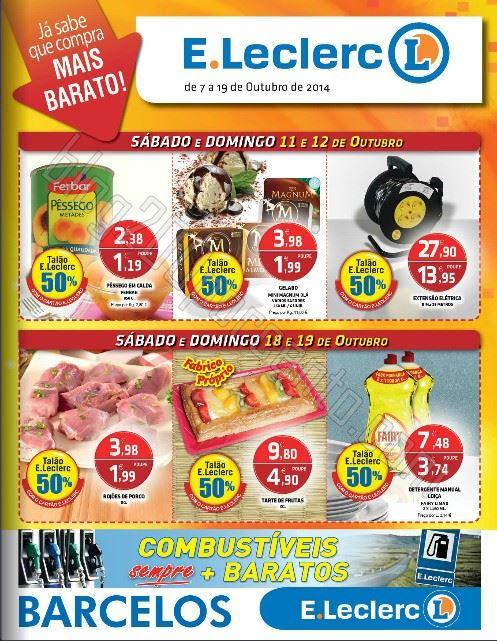 Antevisão Folheto E-LECLERC Barcelos de 7 a 19 outubro
