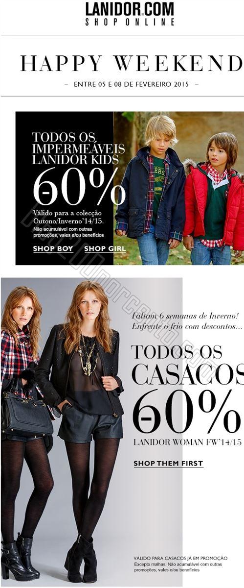 Lanidor happy weekend 60% desconto casacos de 5 a